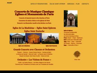 Annuaire des concerts de musique classique à Paris
