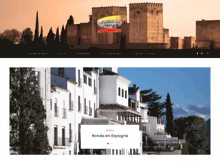 Que présente le site internet andalousie.style pour les internautes ?