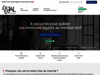 Détails : JAL : Journal Annonces legales