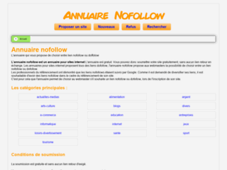 Annuaire nofollow
