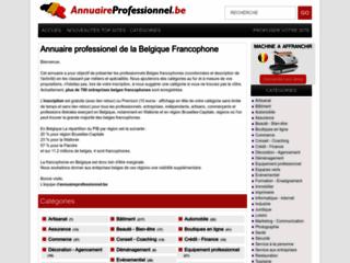 Détails : Annuaire professionnel de la Belgique francophone