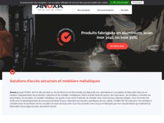 Détails : matériels de chantier en acier, aluminium et inox