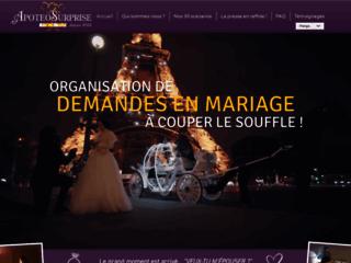 Détails : Surprises romantiques et demandes en mariage