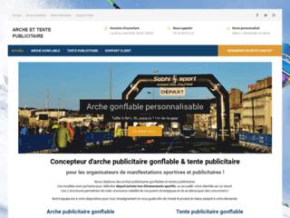Arche publicitaire gonflable