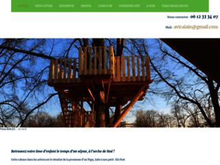 Détails : Arche de Noé, cabane en bois dans les arbres