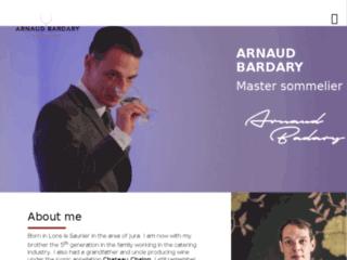 Détails : Arnaud Bardary, Master Sommelier London