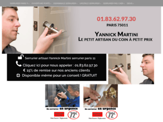 Ouverture de Porte claquée pas cher sur Paris 11