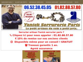 Yanick Serrurier, votre artisan serrurier à Paris 7