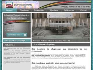 Détails : Location de chapiteau - Arverne évènements