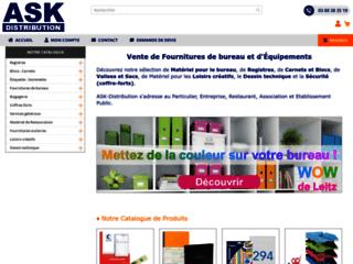 Détails : ASK Distribution : Fournitures de bureau, registres, coffres-forts, blocs, carnets