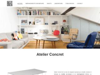 Meubles designs et sur-mesure par Atelier Concret