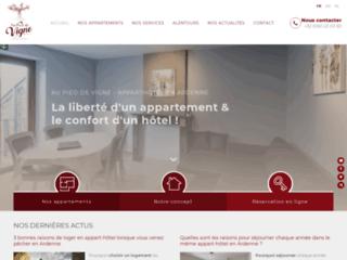 Détails : Au Pied de Vigne - Appart-hôtels à Vresse-sur-Semois
