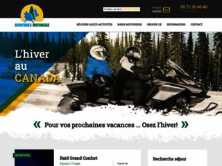 Organisation de voyages et séjours motoneige au Québec.