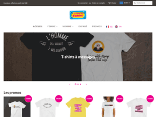 Boutique T-shirt originaux pour Homme, Femme, Enfant