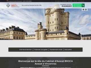 Maître Carine BROCA, avocat en droit pénal à Vincennes