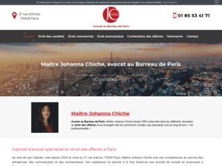 Détails : Me Johanna Chiche, avocat en droit des affaires