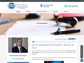 Détails : Me Olivier de Boissieu, avocat en droit pénal à Paris