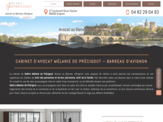 Détails : Me Mélanie de Précigout, avocat en droit bancaire à Avignon