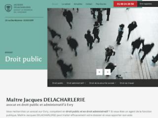 Maître DELACHARLERIE, avocat en droit public et administratif à Evry