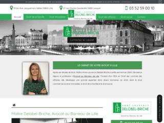 Détails : Avocat Anne-Laurence Delobel-Briche au barreau de Lille