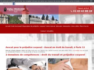 Détails : Avocat en droit du travail à Paris - Maître Didier Maruani