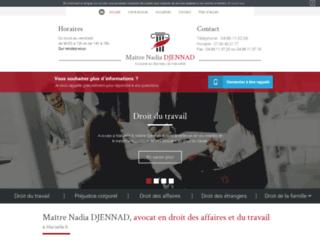 Maître Nadia DJENNAD, avocat en droit des affaires et du travail à Marseille 6
