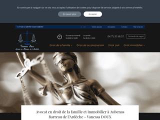 Vanessa DOUX, Avocat en droit de la famille à Aubenas