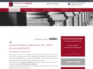 Détails : Maître Emmanuelle Millot, avocat au barreau de Roubaix