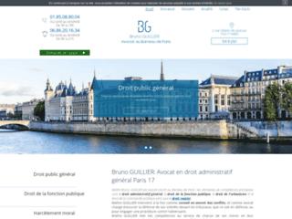 Bruno GUILLIER: Avocat en droit administratif général Paris 17