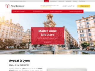 Avocat à Lyon, Maître Anne JALOUSTRE