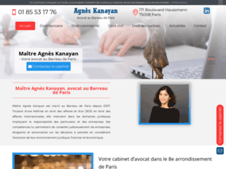Détails : Avocat Agnès Kayan dans le 8ème arrondissement de Paris (75)