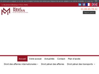 Avocat droit des affaires internationales - Paris 1 - Me MARIAN