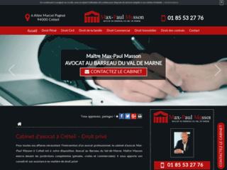Détails : Maître Max-Paul Masson, avocat droit des étrangers