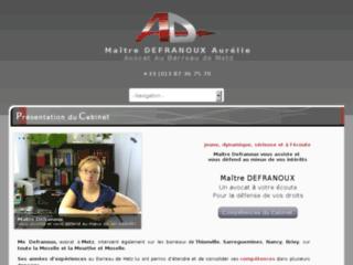 Détails : Me Defranoux, avocat sur Nancy, Metz, Thionville