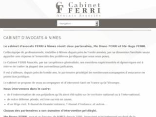 Détails : cabinet d'avocat sur Nîmes en droit pénal, droit routier et préjudice corporel : Me Ferri