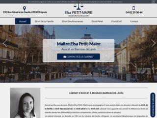 Me Elsa Petit-Maire, avocate à Brignais au barreau de Lyon