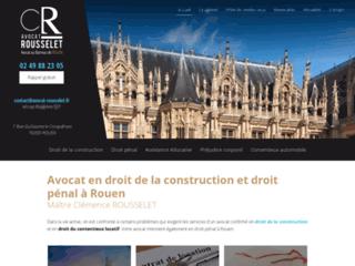 Me Rousselet, avocat à Rouen
