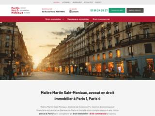 Maître Martin Salé-Moniaux, avocat en droit immobilier à Paris 1, Paris 4