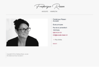 Avocate à Bulle: Frédérique Riesen