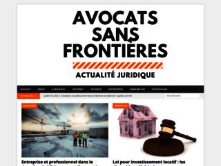 Site des avocats sans frontières