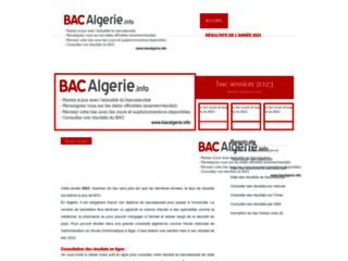 Détails : Bacalgerie, site du baccalauréat en Algérie