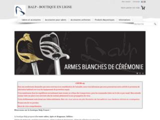 Sabres et épées, accessoires d'uniformes de la marque française Balp