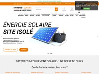 Détails : L'univers des batteries solaires moins chers