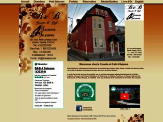 Détails : Québec Bed & breakfast 4 saisons - B&B Couette & Café - Gîte et hébergement