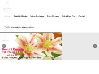 Site Internet de Beauté désirée