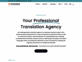 Détails : Agence de traduction BeTranslated