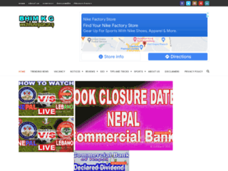 Website's thumnail : B K G Latest News