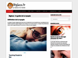 Bigleux.fr, le blog de la myopie
