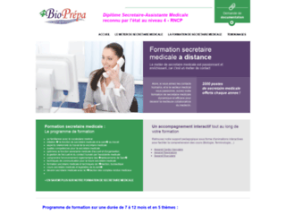 Détails : Formation secrétaire médicale à distance - Bioprepa