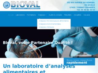 Détails : Laboratoire Bioval, laboratoire d'analyses microbiologiques, Tonnay-Charente